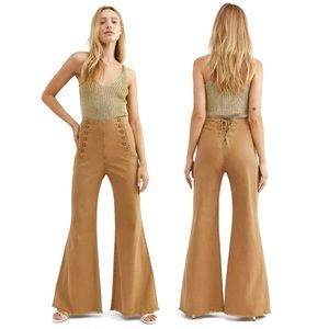 Free People Duffy High Rise Sailor Wide Leg Pants